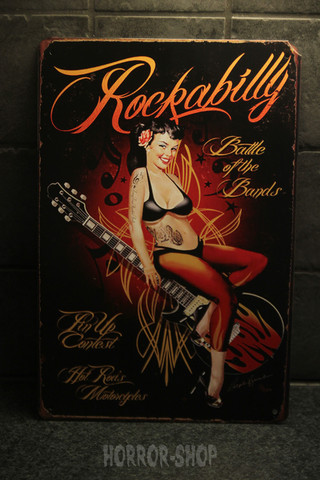 Rockabilly Battle of the bands -sign
