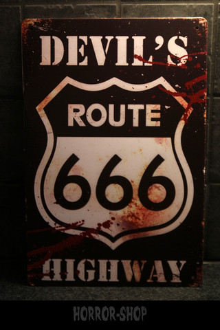 Devils route 666 -sign