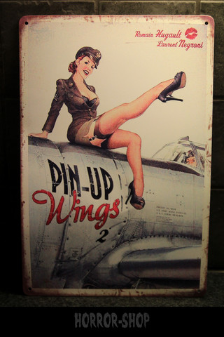 Pinup wings -sign