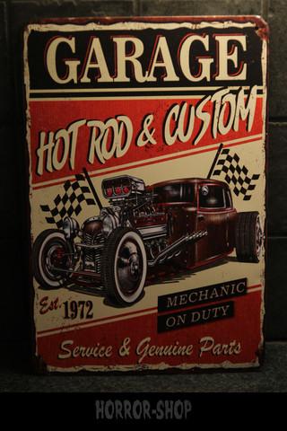 Garage hotrod and custom -sign