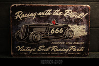 Racing with the Devil -sign