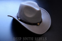 Grey cowboy hat (with leather band)