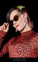 Leopard retro cat eye sunglasses