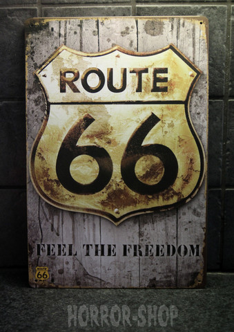 Route 66 Feel the freedom -kyltti