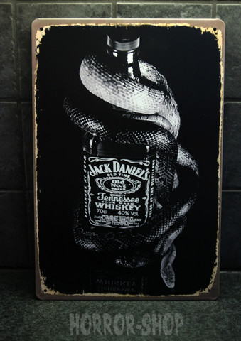 Jack Daniel's snake Whiskey -sign
