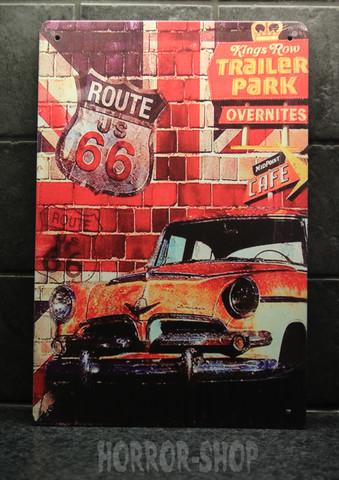 Route 66 trailer park -kyltti