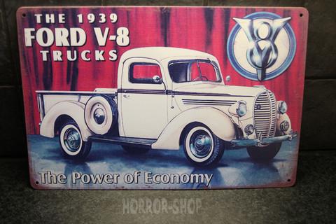 1939 ford v-8, -sign