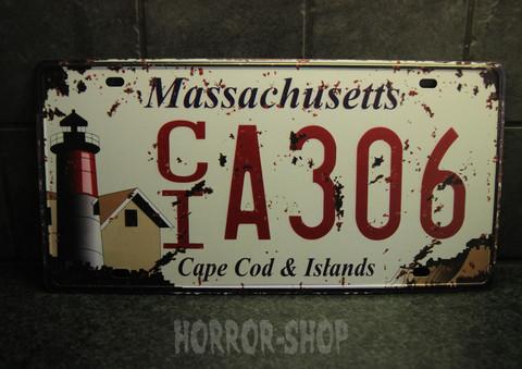 Massachusetts register plate -sign