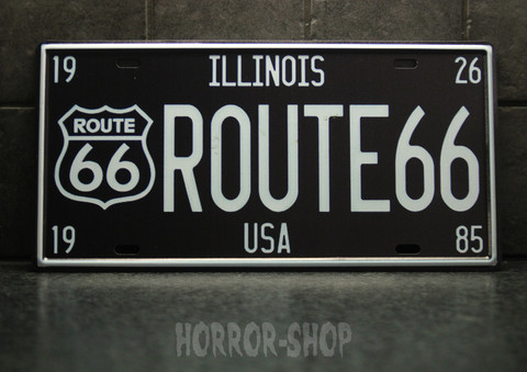 Illinois route 66  register plate -sign