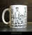 Mom Dad Me and Satan -mug