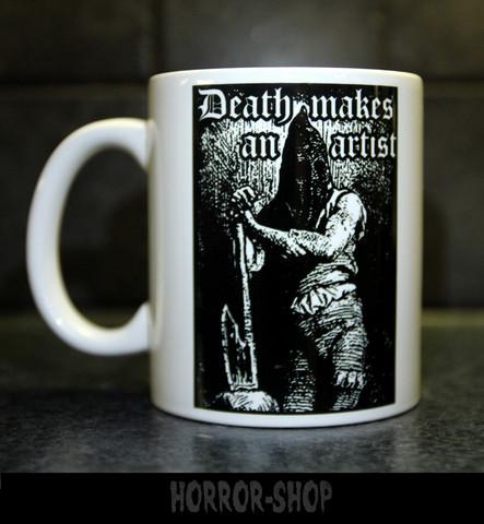 Death makes an artist -mug
