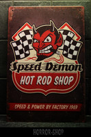 Speed Demon Hot Rod -sign