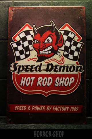 Speed Demon Hot Rod -kyltti