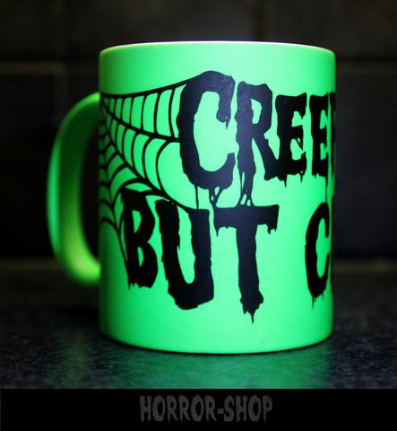 Creepy but cute (mug) neon green