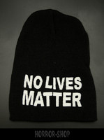 No lives matter, black with white embroydery