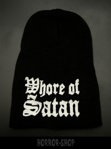 Whore of Satan, black with embroydery