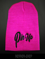 Pin up, neon pink beanie