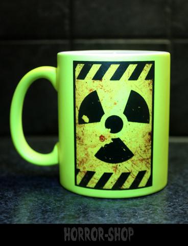 Nuclear warning (mug) neon yellow