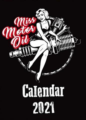 Miss Motor Oil -seinäkalenteri 2021