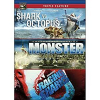 Triple Feature: Shark vs Octopus / Monster / Raging Sharks (DVD, käytetty)
