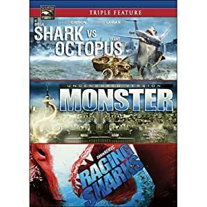 Triple Feature: Shark vs Octopus / Monster / Raging Sharks (DVD, used)