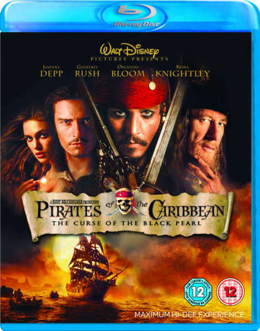Pirates of the Caribbean: The Curse of the Black Pearl (Blu-ray, käytetty, EI FIN SUB)