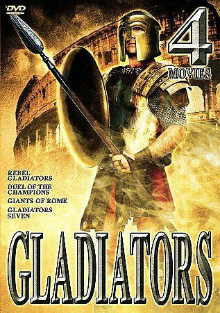 Gladiators - 4 Movie Set (DVD, 2002, 2-Disc Set) (No FIN sub, used)