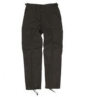 BLACK ZIP-OFF BDU STYLE PANTS