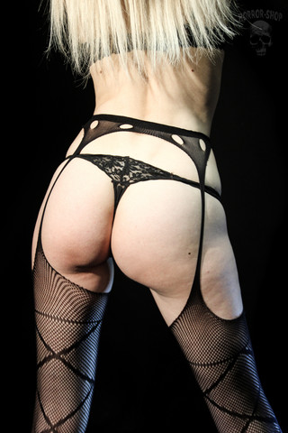 Garter belt with stockings