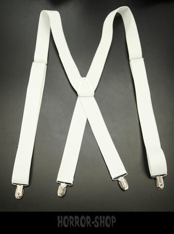 White suspenders, 3,5cm