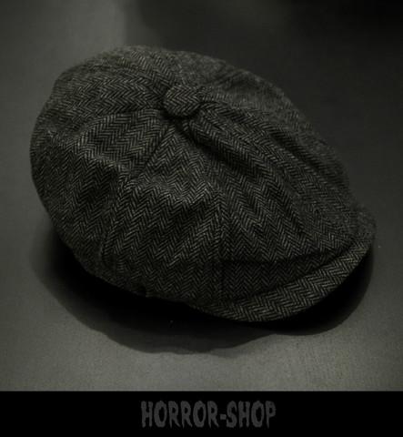 Flat cap, dark grey