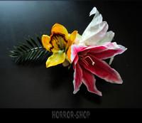 Hawaii tiki hair flower (2) big