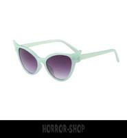 Lime Green/glass retro cat eye sunglasses