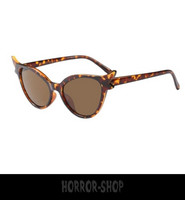 Candy Leopard retro cat eye sunglasses