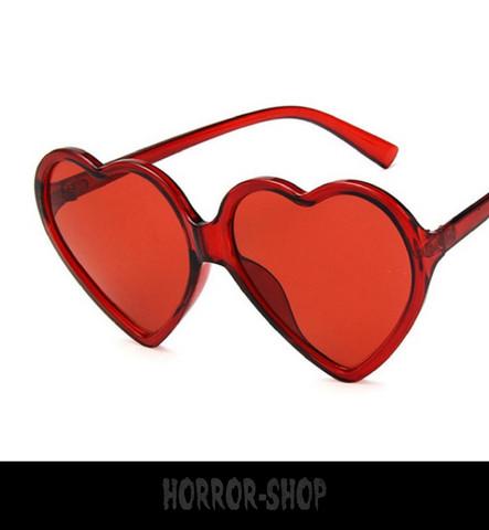 Red heart retro sunglasses