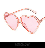 Pink heart retro sunglasses