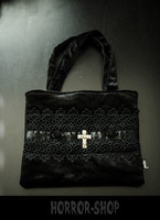 Sinister cross and lace handbag