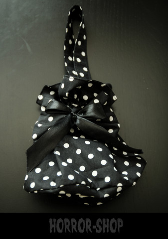 black polka dot handbag small