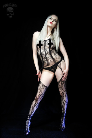 Erotic bodysuit with 3 stripes (no2)