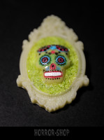 Sugarskull brooch,  bone white (10)