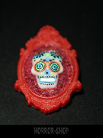 Sugarskull brooch, Red death (10)