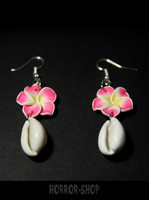 Tiki cochlea orchid earrings /pair