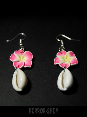 Tiki orkidea korvakorut simpukoilla/pari