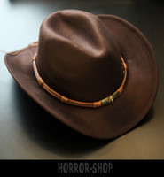 Brown cowboy hat (with band)