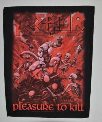 Kreator Pleasure to kill selkälippu