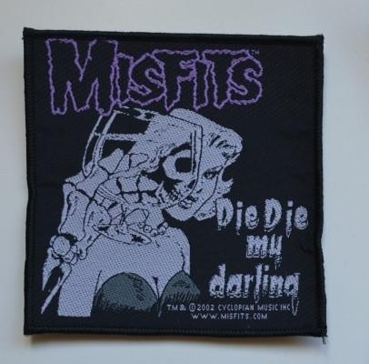Misfits Die die die my darling kangasmerkki
