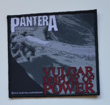 Pantera Vulgar display of power kangasmerkki