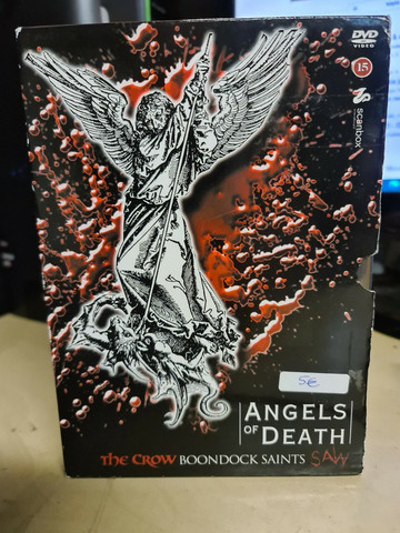 ANGELS OF DEATH The Crow Boondock Saints Saw (DVD, used)