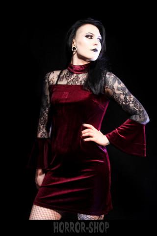 Velvet devil - red, dress