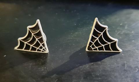 Spider Web - kauluspinssi (pari)